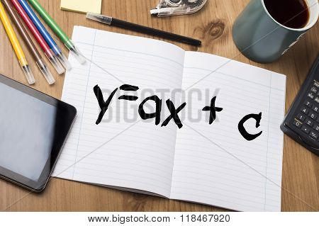 Y=ax + C - Note Pad With Text