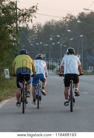 group of biker make a cycle road trip together