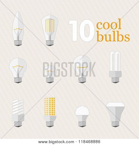 Set Of 10 Different Bulbs