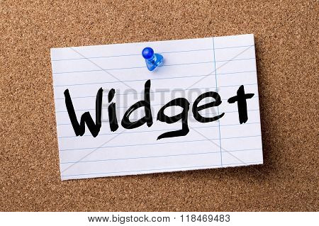 Widget - Teared Note Paper Pinned On Bulletin Board
