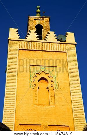 History In Maroc Africa  Minaret   And The   Sky