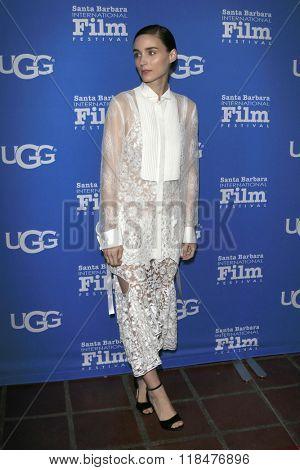 SANTA BARBARA - FEB 12:  Rooney Mara at the 31st Santa Barbara International Film Festival - Cinema Vanguard Award at the Arlington Theatre on February 12, 2016 in Santa Barbara, CA