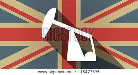 Long Shadow Uk Flag Icon With A Horsehead Pump
