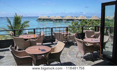 Bar terrace in Moorea 2