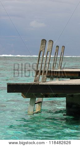 Overwater bungallow deck
