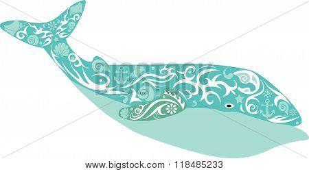 turquoise whale