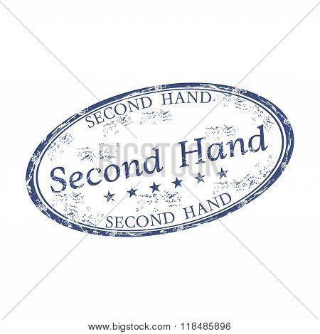 Second hand grunge rubber stamp
