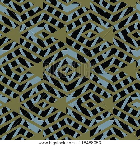 Geometric Messy Lined Seamless Pattern, Bright Transparent Vector Endless Background. Decorative Maz
