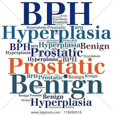 Bph - Benign Prostatic Hyperplasia. Disease Concept.
