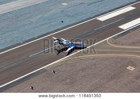 Jet Leaving Runway