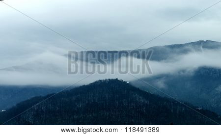 Winter Mountains Abstract Landscape