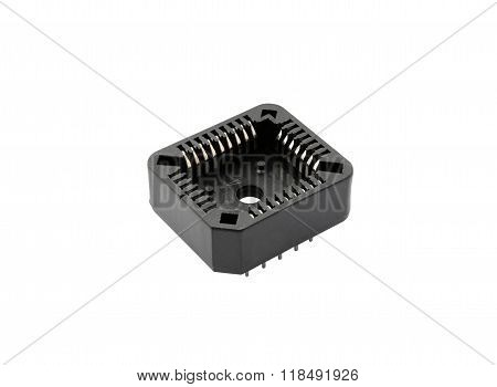 PLCC32 Through Hole IC Socket Isolated