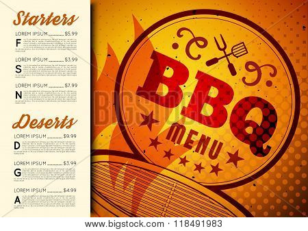 BBQ brochure menu design