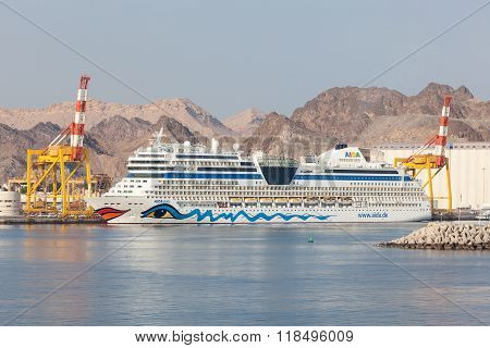 Aida Stella Cruise Liner In Muscat, Oman