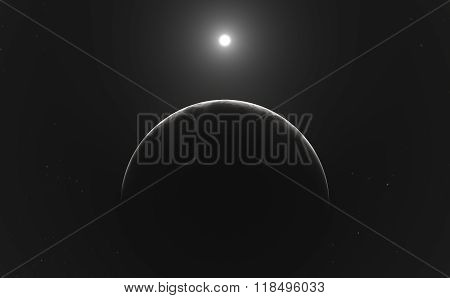 Moon Or Planet And Stars