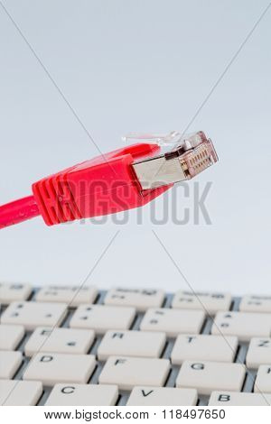 network cable on keyboard