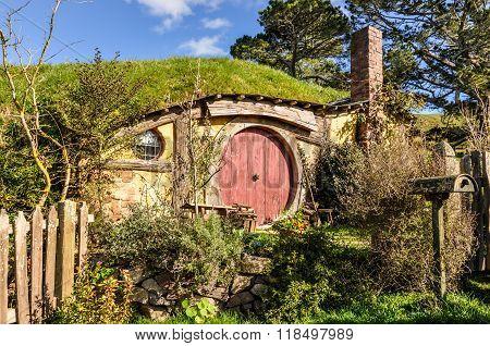 Hobbit House In Hobbiton, Matamata, New Zealand