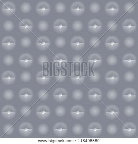 Gray Wall With Small Faintly Luminous Spotlights