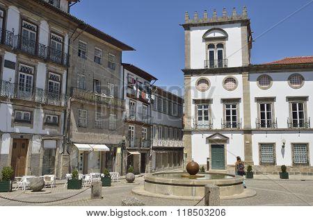 Fountain In Plaza