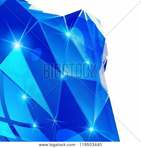 Plastic Pixilated Background With Dimensional Complicated Object, Synthetic Dotted Geometric Backdro
