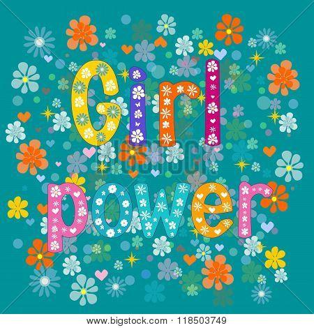 Girl power. Vector