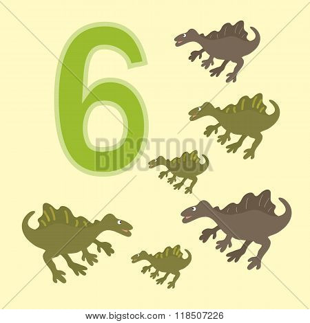 Number 6. Six Dinosaur (spinosaurus) .