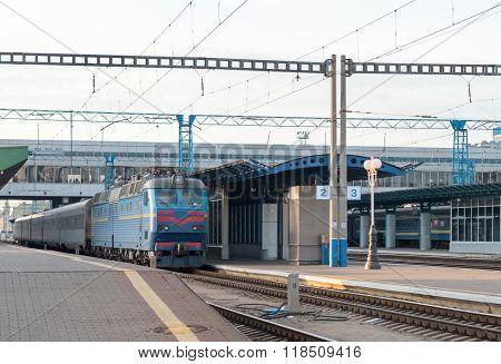 Passenger Train At The Station