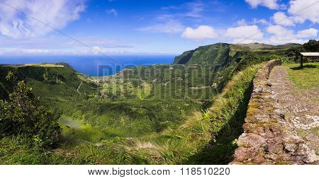 Flores Island Panoramic View