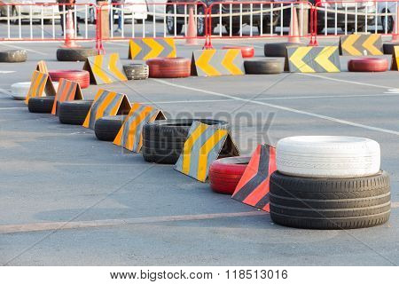 Go-kart Circuit With Rubber Tires