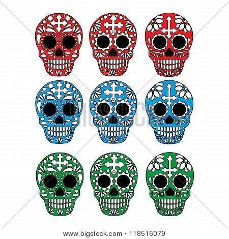 painted Mexican sugar skull
