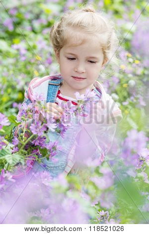 Spring Portrait Of A Little Girl
