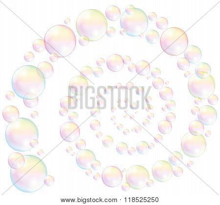 Soap Bubbles Spiral