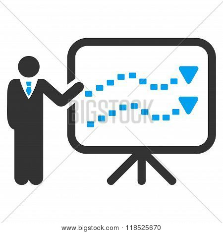 Trends Presentation Vector Icon