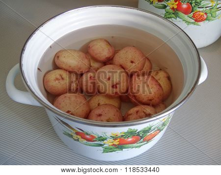 Pan Of Potatoes
