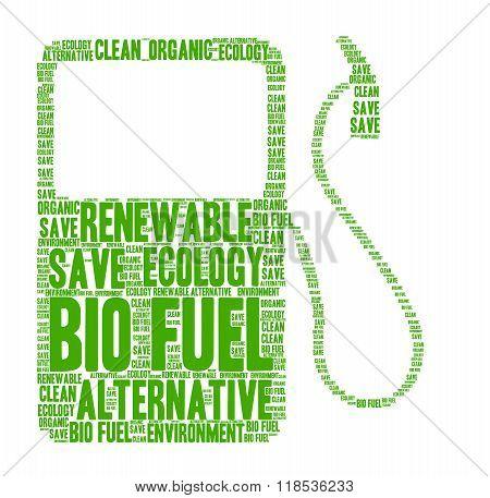 Bio fuel word cloud concept