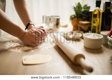 Woman cooking in the kitchen.Healthy food and lifestyle.Eating in.Cooking at home