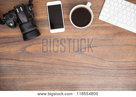 Photographer's Workspace With Copy Space