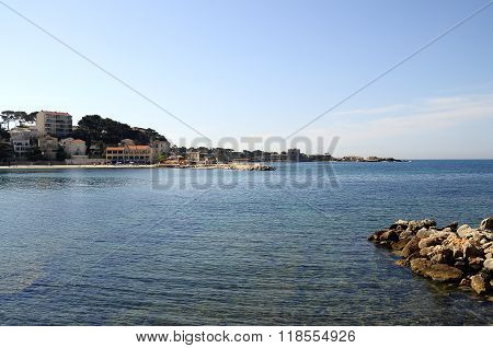 Landscape of Sea beach of Bandol