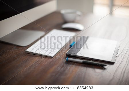 Computer With A Pen Tablet