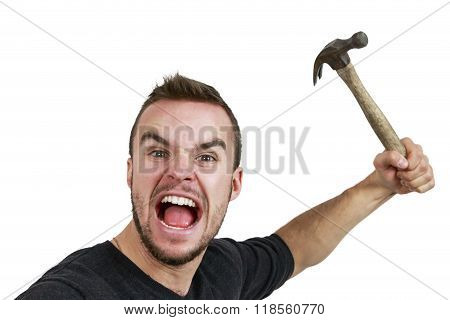 Man With Hammer In Hand
