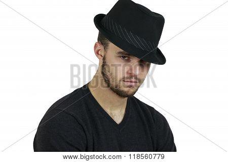 Man Wearing Fedora