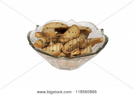 Glass Bowl With Dried Crusts