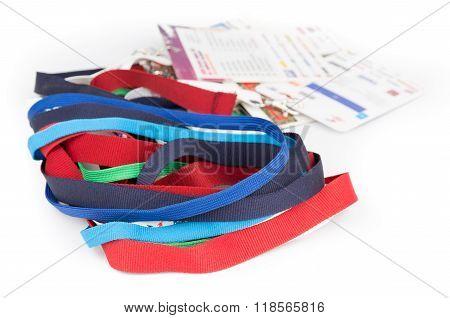 Fabric badge lanyard