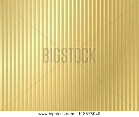 Vector Background Of Corrugated Gold