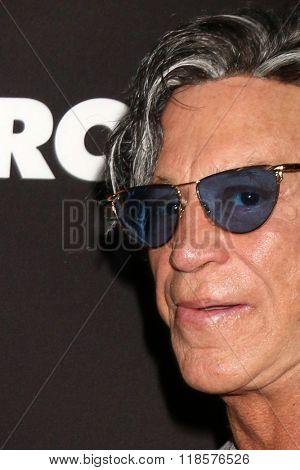 LOS ANGELES - FEB 16:  Mickey Rourke at the Triple 9 Premiere at the Regal 14 Theaters on February 16, 2016 in Los Angeles, CA