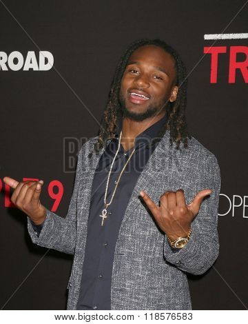 LOS ANGELES - FEB 16:  Bradley Roby at the Triple 9 Premiere at the Regal 14 Theaters on February 16, 2016 in Los Angeles, CA