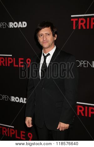 LOS ANGELES - FEB 16:  Clifton Collins Jr at the Triple 9 Premiere at the Regal 14 Theaters on February 16, 2016 in Los Angeles, CA