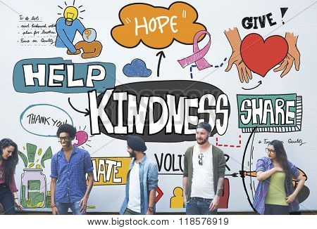 Kindness Kindly Optimistic Positive Giving Concept