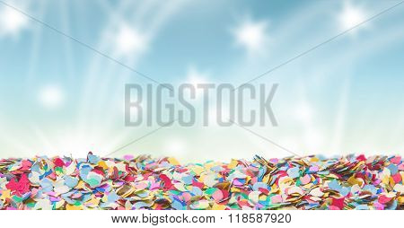 Confetti Carnival Background