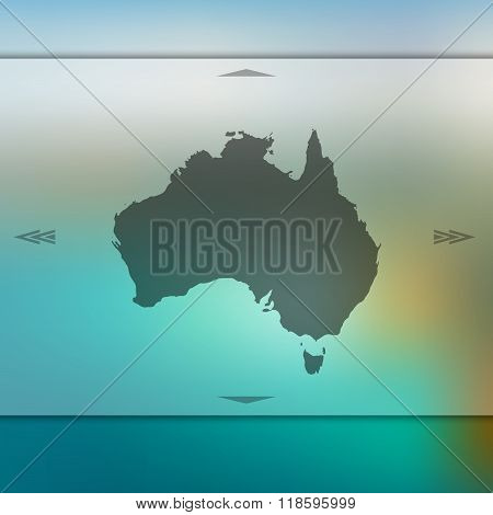 Australia map on blur background